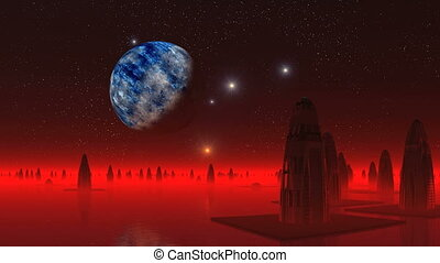 Alien City and the Big Moon