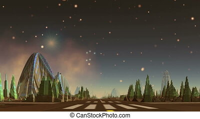 Alien City and UFO
