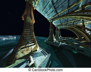 Alien City -  fantasy urban structures