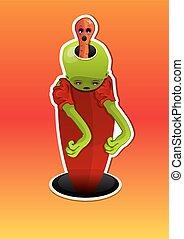 Alien Creature, illustration