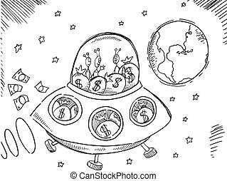 Alien Debt rescue Vector