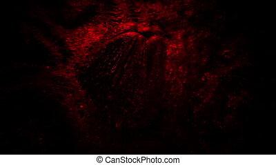Alien Egg In Red Environment - Big slimy egg rotating shot
