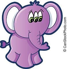 Alien Elephant Vector