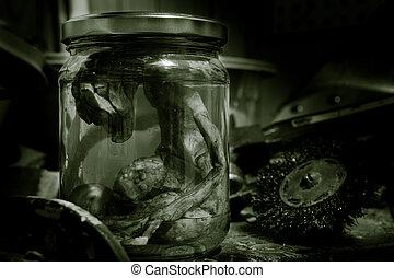 Alien Embryo In A Jar - alien embryo in a jar on work bench ...