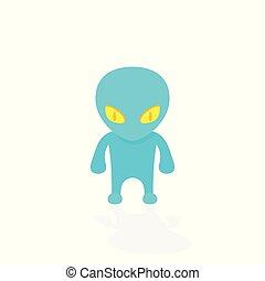 alien, extraterrestrial vector illustration