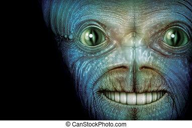 Digital Illustration of an alien.
