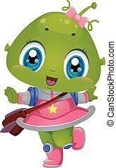 Alien Girl School Bag