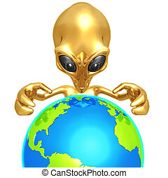 Alien Global Domination - 3D Concept And Presentation Figure