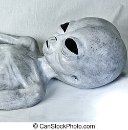 Alien Grey Close up - Grey alien statue