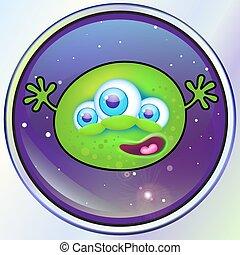 alien, groen monster, ruimte