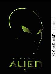 Alien, Hidden Alien. Alien face.