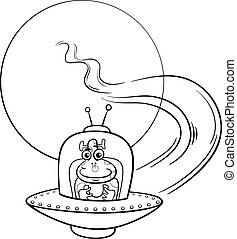 cartoon alien coloring pages - photo#36