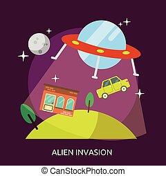 Alien Invasion Conceptual illustration Design