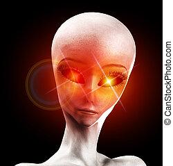alien, leven, vorm