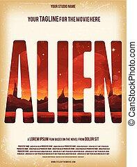 Alien Movie Poster Template