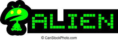 Alien pixel - Creative design of alien pixel