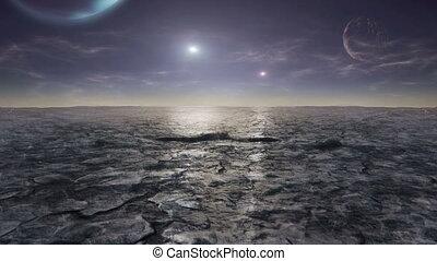 alien, planeet, timelapse