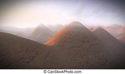 Alien planet scenery