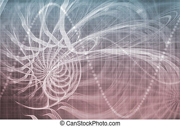 Alien Portal Abstract Background With Futuristic Data Grid