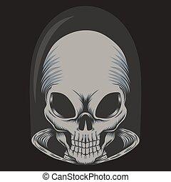 Alien skull vector illustration