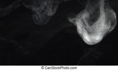 Alien smoke - slow smoke comes down. Real shots, no CGI or...