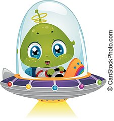 Alien Space Ship Beam
