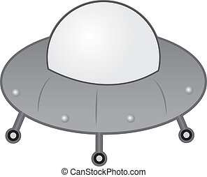 Alien Spaceship  - Alien UFO spaceship with wheels