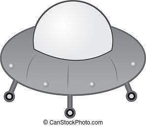Alien Spaceship  - Alien UFO spaceship with wheels