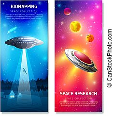Alien Spaceship Vertical Banners