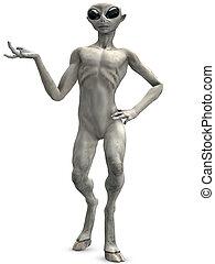 Alien - 3D Render of an Alien