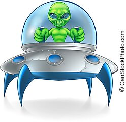 Alien UFO Flying Saucer