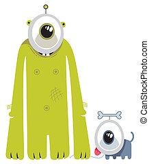 Alien with a pet