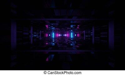 Flashy Entertaining Light Room Shaft 4k uhd 3d rendering vj loop