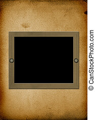 Alienated frame for photo on the abstract background