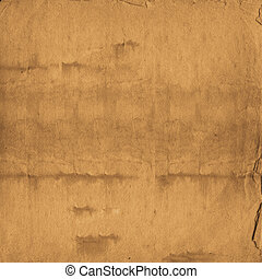 Alienated used paper background with gold ornamental for announcement