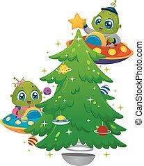 Aliens Christmas Tree