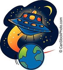 Aliens UFO starship