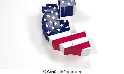 alifornia, verenigd, usa, staten, staat, amerika