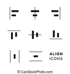 Align icons collection. Set of simple editing and formatting...