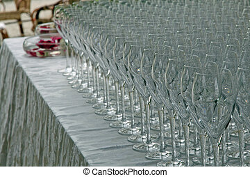 glass goblets a wedding celebration for the aperitif