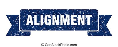 alignement, bannière, bande, grunge, signe., ribbon.