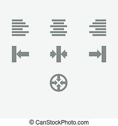 alignement, icône