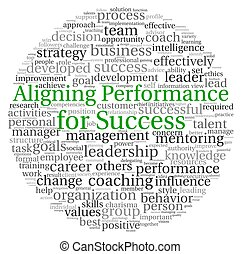 Aligning Performance concept in word tag cloud - Aligning...