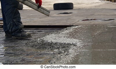 Alignment Concrete Screed on the Roof