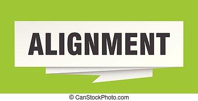 alignment sign. alignment paper origami speech bubble. alignment tag. alignment banner