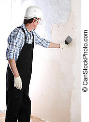 aligns wall - work aligns with a spatula wall