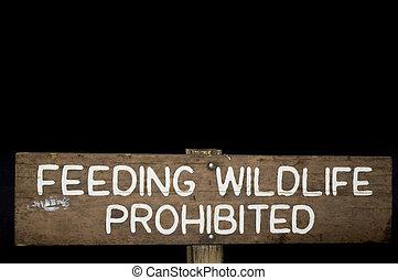 alimentação, fauna, roadsign