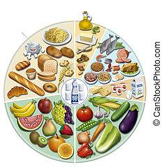 alimentaci?ne quilibrada & Nutritio - illustration of...