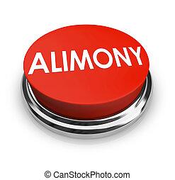 alimentatie, woord, 3d, rode knoop, spousal, steun,...