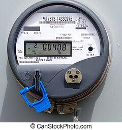 alimentation énergie, résidentiel, mètre, grille, numérique...